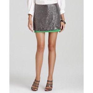 DVF Clean Elley Sequin Embellished Mini Skirt
